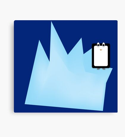 Iceberg Penguin Canvas Print