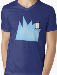 Iceberg Penguin Mens V-Neck T-Shirt
