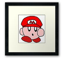 Supersized Mario Kirby  Framed Print
