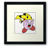 Super Sized Pika Kirby Framed Print
