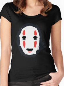 The Mask that Hides Women's Fitted Scoop T-Shirt