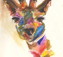 Giraffe of Many Colors by Danielle  Creason