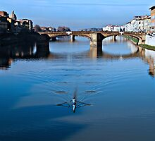 Striding Across the Arno by CGreene85