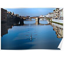 Striding Across the Arno Poster