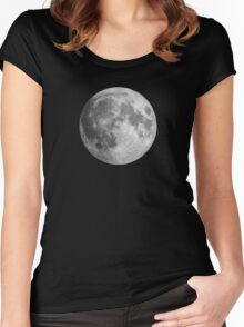 The Moon: Earth's Little Pet Women's Fitted Scoop T-Shirt