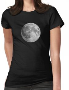 The Moon: Earth's Little Pet Womens Fitted T-Shirt
