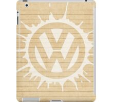 VW splat white iPad Case/Skin