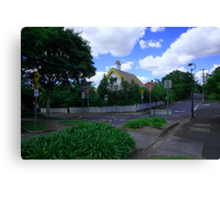 Too Many Signs For One Street Corner Canvas Print