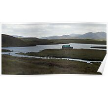 Fishing hut on Loch, Scotland Poster