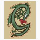 Celtic Oscar letter G Sticker by Donna Huntriss