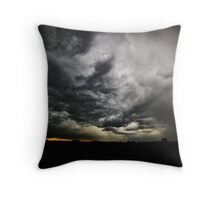 Sunset vs Rainstorm Throw Pillow
