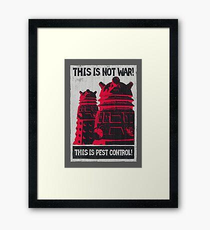 Planetary Pest Control Framed Print