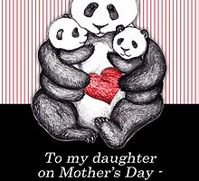 To my daughter on Mother's Day, panda illustration. by Micklyn2