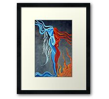 Fire N Ice Framed Print