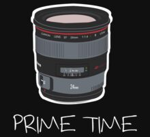 Prime Time Lens T-Shirt (Dark) by David Gray