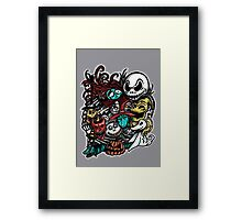 Nightmarish Characters Framed Print