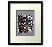 Nightmarish Characters Framed Print