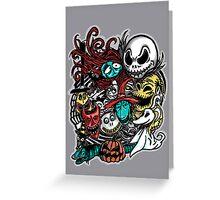 Nightmarish Characters Greeting Card