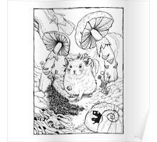 Hamster In Wonderland Poster