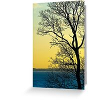 Sunset at Sewerby, East Yorkshire Greeting Card