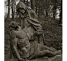 pieta Mary mourning her dead son Photographic Print