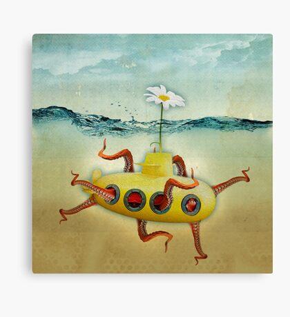 yellow submarine in an octopuses garden Canvas Print