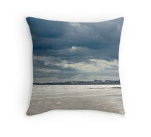 The sea at Bridlington, East Yorkshire Throw Pillow