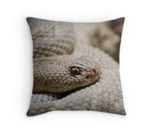 White Snake Throw Pillow