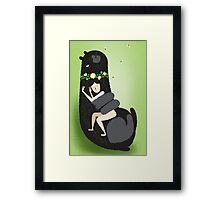 Slumbear Framed Print