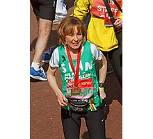 Sian Williams BBC Breakfast presenter at the finish line of the London Marathon Photographic Print