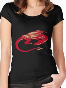 Smaug, the red dragon Women's Fitted Scoop T-Shirt