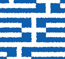 Smartphone Case - Flag of Greece - Patchwork Painted by Mark Podger