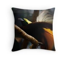 Lesser Bird of Paradise Throw Pillow