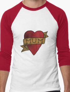 Mum ♥ heart tattoo - Matt Helders Men's Baseball ¾ T-Shirt