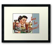 Time for Dessert Waitress  Framed Print