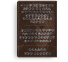 Garth Morenghi: Typewriter Canvas Print