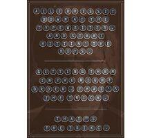 Garth Morenghi: Typewriter Photographic Print