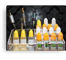 Electronic smoking Canvas Print