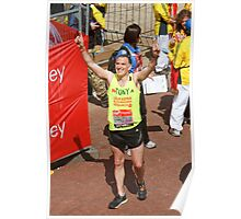 Tony Audenshaw from Emmerdale after finishing the London Marathon 2013 Poster