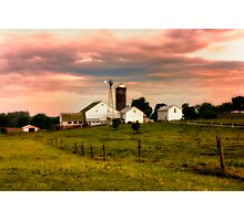 Amish Farm in Lancaster County,PA Photographic Print