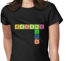 BIOLOGY GIRL - Periodic Elements Scramble! Womens Fitted T-Shirt