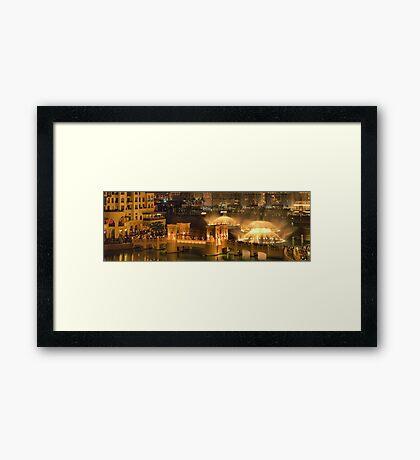 Music and Lights at Burj Khalifa Framed Print