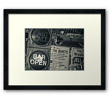 Drinks On Framed Print