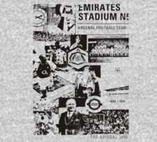 Arsenal Collage T shirt by Michael Henry