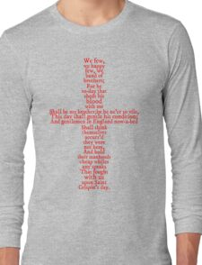 Henry V Speech Shirt Long Sleeve T-Shirt