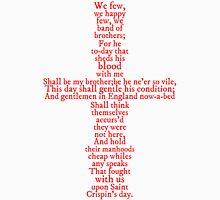 Henry V Speech Shirt Womens Fitted T-Shirt