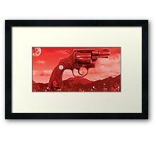 RED NOIR Framed Print
