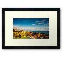 Bass Rock from Dunbar Scotland Framed Print