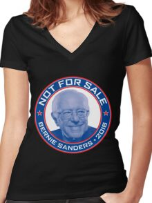 Bernie Sanders 2016 - Not For Sale Women's Fitted V-Neck T-Shirt