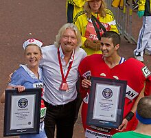 Guinness World record holders with Sir Richard Branson by Keith Larby